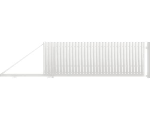Poarta auto portanta, 1500 x 4000 mm, deschidere stanga, alb
