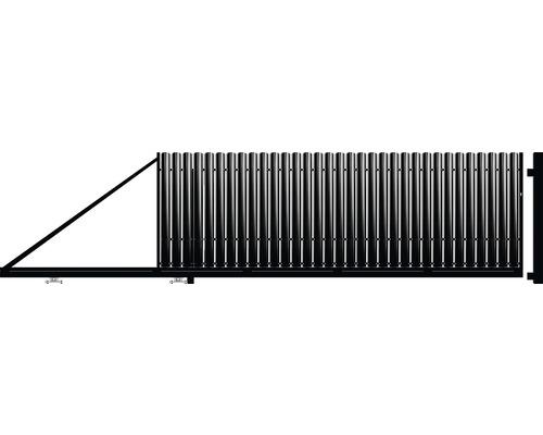 Poarta auto portanta, 1250 x 4000 mm, deschidere stanga, negru