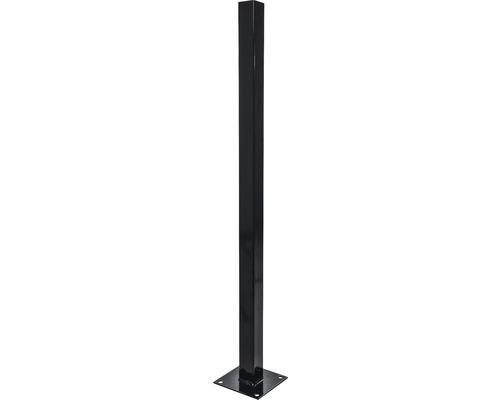 BFENCE stalp cu talpa, H 1,5 m, negru