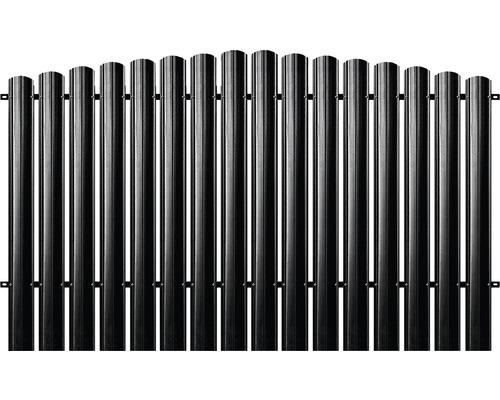 BFENCE panou semirotund 140x200 cm negru