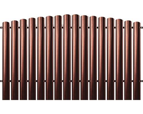 BFENCE panou semirotund, 140x200 cm, rosu