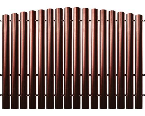 BFENCE panou semirotund 165x200 cm roșu
