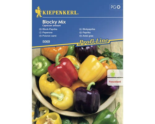 Seminte de legume Kiepenkerl, ardei gras Blocky mix F1