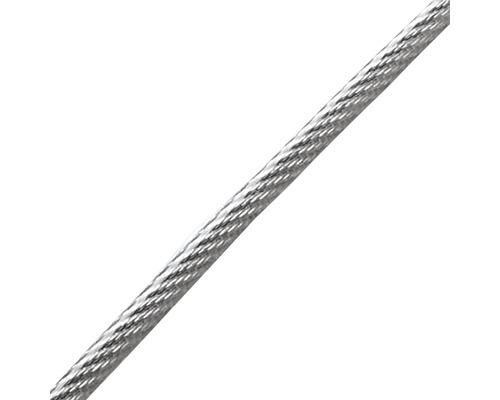 Cablu sufa otel zincat Pösamo Ø4-6 mm, cu manson de plastic