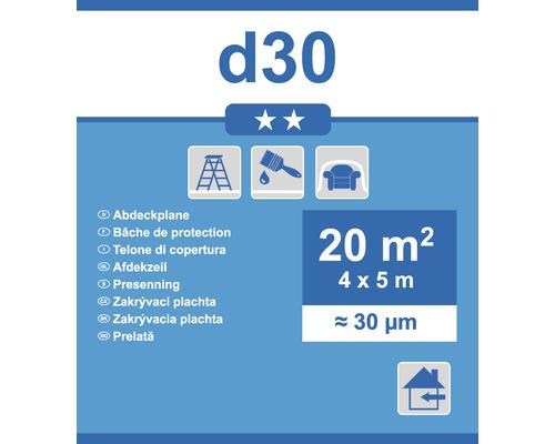 Folie profi pentru zugrăvit 4x5 m 30 µ transparentă