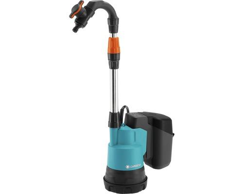 Pompa submersibila pe baza de acumulator pentru apa de ploaie Gardena 2000/2 P4A basic, fara acumulator si incarcator incluse