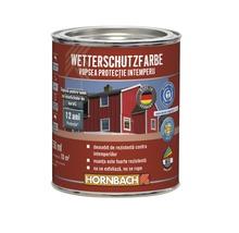 Vopsea de protecție a lemnului împotriva intemperiilor Wetterschutz albă 750 ml
