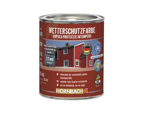 Vopsea de protectie a lemnului impotriva intemperiilor Wetterschutz alba 750 ml