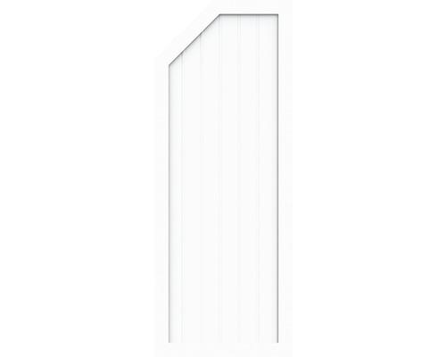 Element de extremitate BasicLine tip E stânga 70 x 180/150 cm, alb