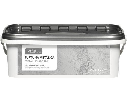 Vopsea creativa cu efect metalic StyleColor Metallic Storm argintiu 2,5 l