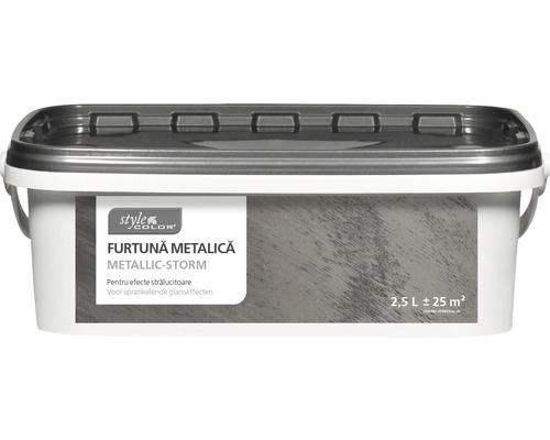 Vopsea creativa cu efect metalic StyleColor Metallic Storm antracit 2,5 l