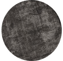 Covor rotund Puffy gri antracit Ø 80 cm