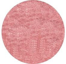 Covor rotund Puffy roz Ø 80 cm