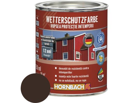 Vopsea de protecţie a lemnului împotriva intemperiilor Wetterschutz maro închis 2,5 l