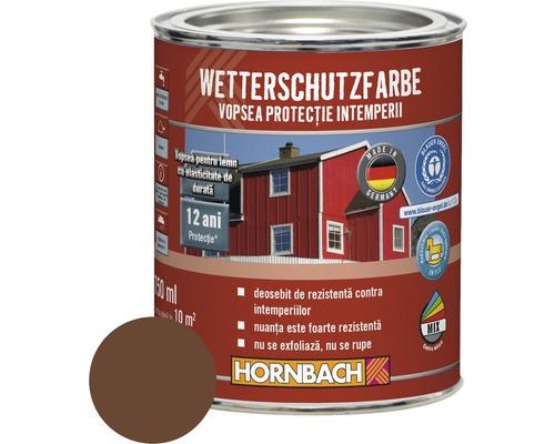 Vopsea de protectie a lemnului impotriva intemperiilor Wetterschutz maro 2,5 l