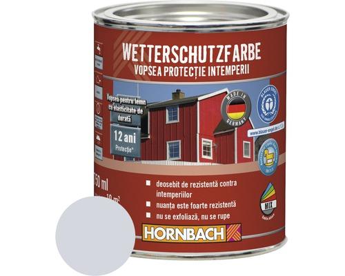 Vopsea de protectie a lemnului impotriva intemperiilor Wetterschutz gri argintiu 750 ml