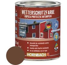 Vopsea de protecţie a lemnului împotriva intemperiilor Wetterschutz maro 750 ml