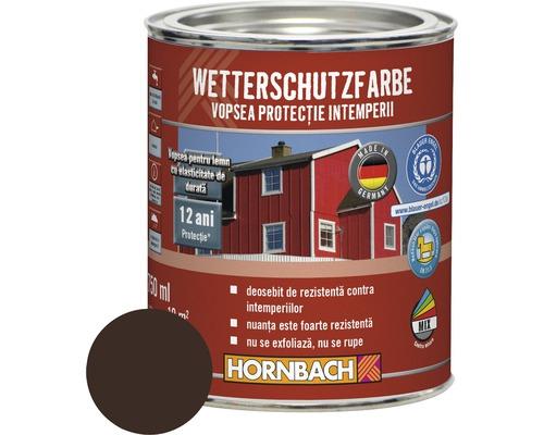 Vopsea de protectie a lemnului impotriva intemperiilor Wetterschutz maro inchis 750 ml