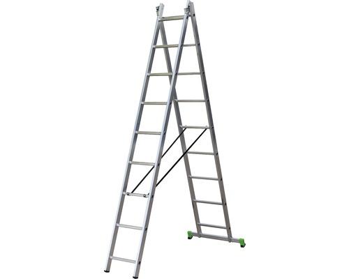 Scară multifuncțională Classik aluminiu 2x9 trepte