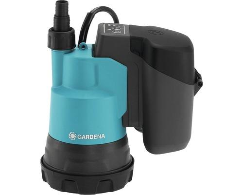 Pompă submersibilă pe bază de acumulator pentru apă curată Gardena 2000/2 P4A 18 W 2000 l/h H 20 m, fără acumumulator şi încărcător incluse