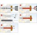 Dibluri plastic cu surub Tox Fassad 14x280 mm, 25 bucati, cap hexagonal, pentru rame/tocuri