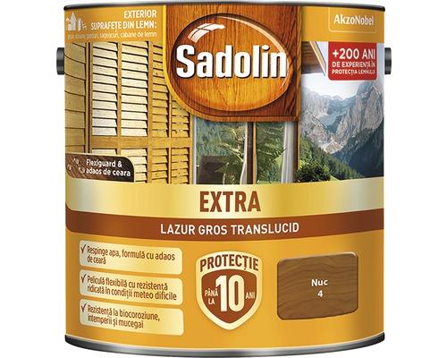 Lazura pentru lemn Sadolin Extra nuc 2,5 l