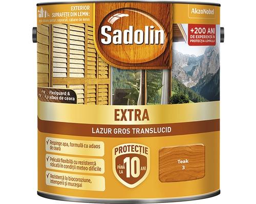 Lazura pentru lemn Sadolin Extra teak 2,5 l