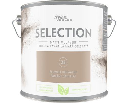 Vopsea mată premium fără conservanți StyleColor SELECTION nuanța 23 Pământ catifelat 2,5 l
