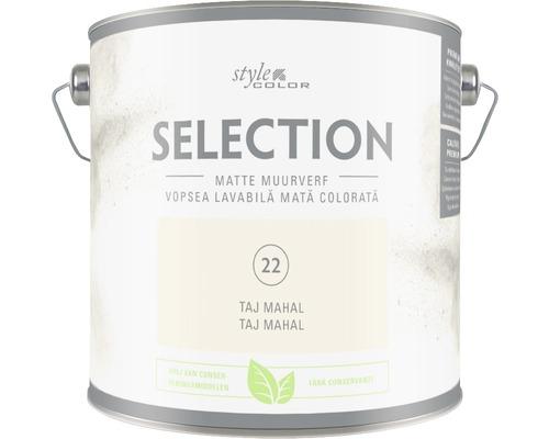 Vopsea mată premium fără conservanți StyleColor SELECTION nuanța 22 Taj Mahal 2,5 l