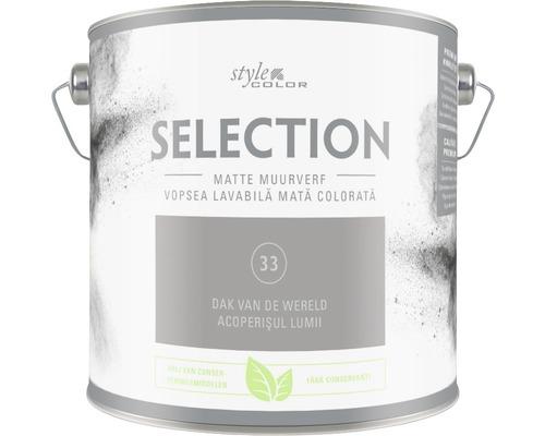 Vopsea mată premium fără conservanți StyleColor SELECTION nuanța 33 Acoperișul lumii 2,5 l