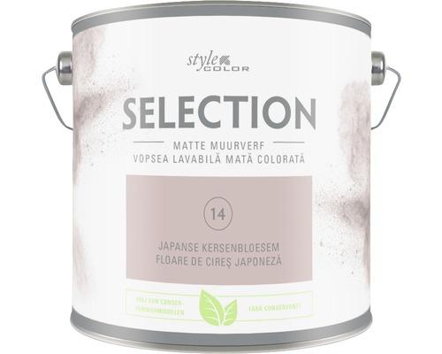 Vopsea mată premium fără conservanți StyleColor SELECTION nuanța 14 Floare de cireș japoneză 2,5 l