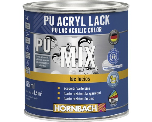 Lac PU acrilic color, lucios, baza C in nuanta dorita 375 ml