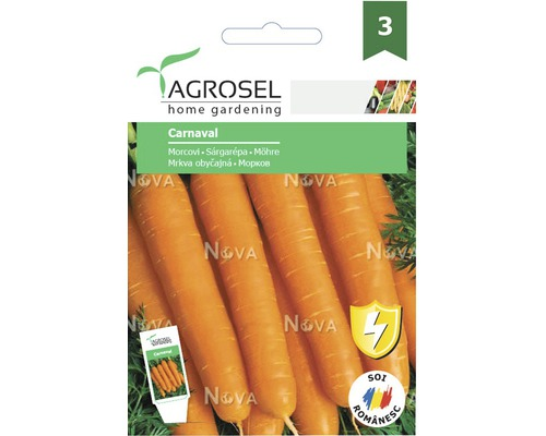 Seminte de legume Agrosel, morcovi Carnaval PG3