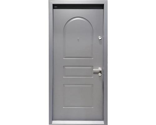 Ușă de intrare metalică pentru interior Maco urban M2 gri 202x88 cm dreapta