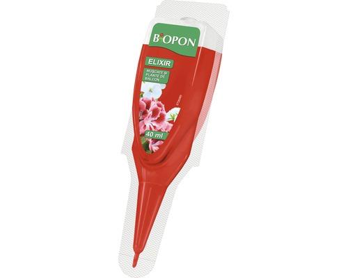 Îngrășământ Biopon Elixir pentru mușcate și pante de balcon 40 ml