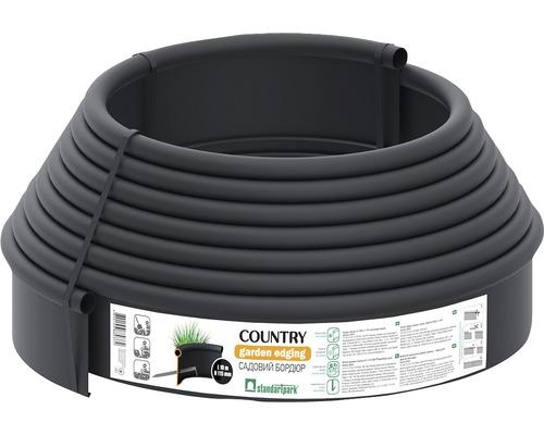 Separator gazon COUNTRY Line 600x10 cm negru