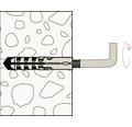 Dibluri plastic cu carlig Fischer SB 8x40 mm, 2 bucati