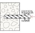 Dibluri plastic cu surub Fischer F10S 10x140 mm, 6 bucati, pentru rame/tocuri