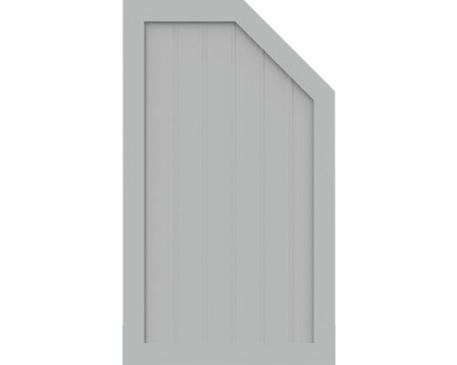 Element de extremitate BasicLine tip M dreapta 70 x 120 cm, gri argintiu