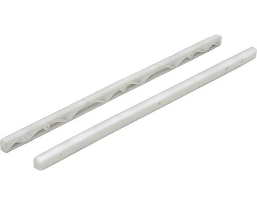 Glisiere simple tip sina Hettich 385x15,5x10 mm, plastic alb, 1 pereche