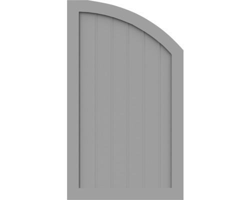Element de extremitate BasicLine tip R dreapta 70 x 120/90 cm, gri argintiu