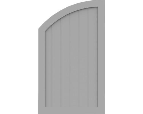 Element de extremitate BasicLine tip R stanga 70 x 120/90 cm, gri argintiu