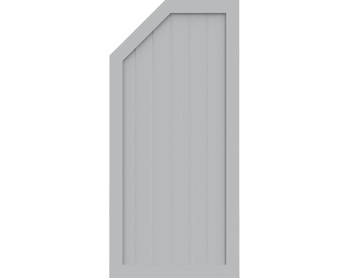 Element de extremitate BasicLine tip L stanga 70 x 150 cm, gri argintiu
