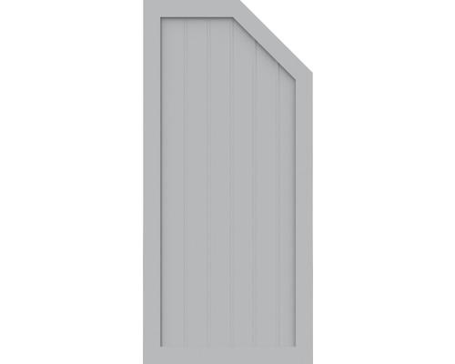 Element de extremitate BasicLine tip L dreapta 70 x 150 cm, gri argintiu