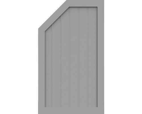 Element de extremitate BasicLine tip M stanga 70 x 120 cm, gri argintiu