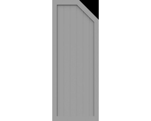 Element de extremitate BasicLine tip E dreapta 70 x 180/150 cm, gri argintiu