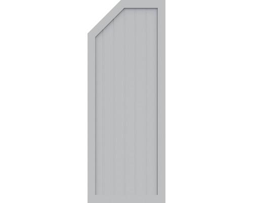 Element de extremitate BasicLine tip E stanga 70 x 180/150 cm, gri argintiu