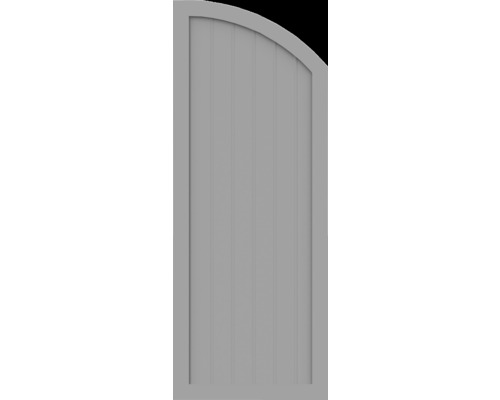 Element de extremitate BasicLine tip H dreapta 70 x 180/150 cm, gri argintiu