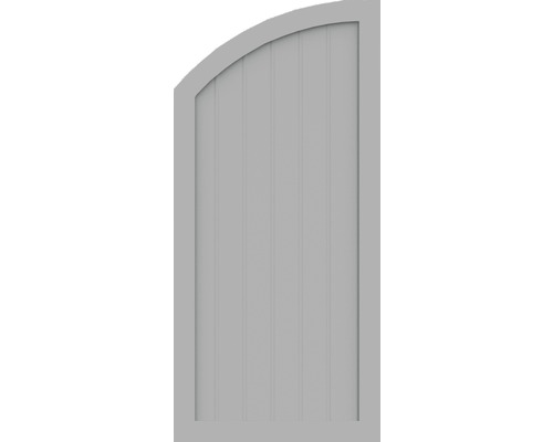 Element de extremitate BasicLine tip Q stanga 70 x 150/120 cm, gri argintiu
