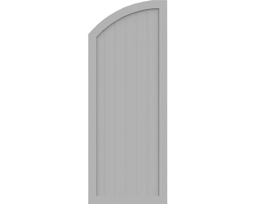 Element de extremitate BasicLine tip H stânga 70 x 180/150 cm, gri argintiu